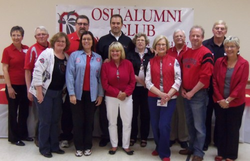 OSUACMC Executive Board members shown during the 15th Annual Scholarship Auction with featured speaker Ryan Miller, former Ohio State linebacker and co-founder of m2 marketing and the 2nd & 7 Foundation.