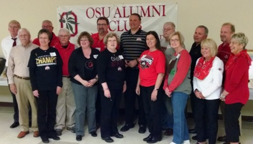Members of the OSUACMC Board of Governors shown with CRAIG LITTLE of the OSU Alumni Association and Featured Speaker MATT FINKES during the 16th Annual Scholarship Auction.